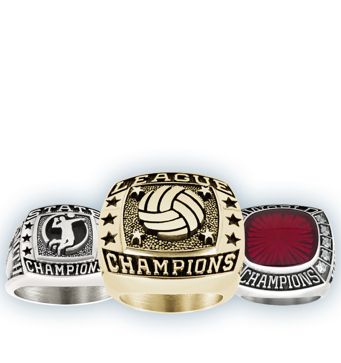 Youth Volleyball Championship Rings